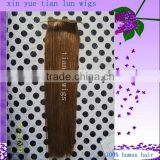 2013 Hot sale Peruvian virgin Human hair New style 12 inch #4 Silky straight hair extension Free shipping