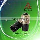 Hot sale E27 to E14 PBT adapter lampholder / Haohong factory price / made in China