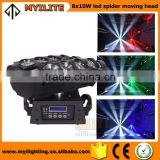 Brand hot sell 8*12w rgbw 4in1 video effect lights led spider moving head