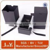 UV logo black perfume box with EVA insert and tissue paper                                                                         Quality Choice