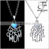 """Best Mom Heart"" Steampunk Fairy Magical Love Glow In The Dark Necklace Mother's Day Family Gift"