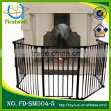 Foldable metal baby playpen safety gate/baby gates