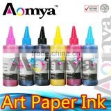 Aomya Factory wholesale!!! High quality Waterproof Art Paper inject Ink. Bulk ink For For Epson Stylus Photo 4000/7600/9600