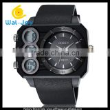 WJ-5258 OHSEN rectangle face Japan movt high quality waterproof multifunction business men watch