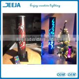 New Rechargeable LED Wedding Pillars Decoration Crystal Light Base