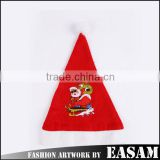 Christmas supplies cheap wholesale cute Santa Claus logo christmas hat plain 2015