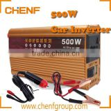 CE Approval Vehicle 500W Inverter Car Power Inverter Converter DC 12V to AC 220V USB Adapter Portable Car Charger