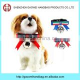 Dogs Puppy Cat Adjustable PU Leather Pet Collar With Bell Bowknot Neck Strap