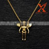 Hip Hop Jewelry Stainless Steel Micro LittleI Angel 3D GOLD Charms Pendants                                                                                                         Supplier's Choice