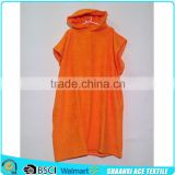100% cotton bright orange color Adult hooded towelling robe surf change robe                                                                         Quality Choice