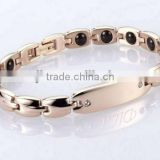 2013 rose gold belt buckle bangle bracelet magnet findings