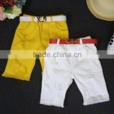 Van Pure Color White / Ginger Casual Short Pants for Boys