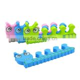 OEM custom cartoon animal shaped EVA toe separator hign quality sponge toe separator supplier