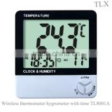 TL8001A Household Large Screen Digital LCD Display Thermometer & Hygrometer With Clock