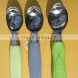 ice cream spoon with plastic handle,zinc alloy ice spoon,stainless steel ice cream spoon