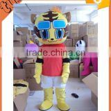 2015 Hot Sell custom plush professional cartoon character mascot Tiger Cub costumes for performance/ promotion