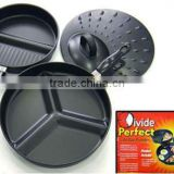 3pcs divide fry pan set