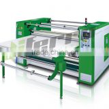 oil drum sublimation heat transfer press printing machine with paper roller back for fabric, cotton, garments