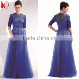 2014 new arrival fashion style long sleeve evening dress short sleeve short sleeve long chiffon bridesmaid dress