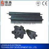 Plum clossom form graphite grounding module with low resistance Graphite earth blocks for the earthing system