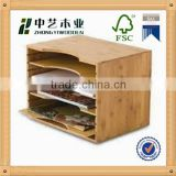 2015 year china suppliers FSC&SA8000 office desktop wooden business card file holder for factory sale