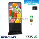 "55""Network TV 4k samsung lcd screen kiosk machine for advertising displays"