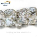18-20mm largest huge big size genuine irregular baroque nucleated natural pearl beads wholesale