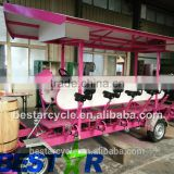 new 2016 innovative product Electric pedal bus beer bike party bike