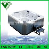 2015 Factory hot sale massage bath tub with reversible corner drain location for family used