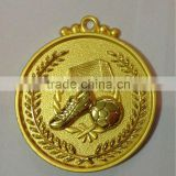 2015 free artwork customized logo gold and bronze plated football sports medal
