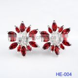2016 Hot Selling Fashion Custom Multi-colors Women Flower Gold 925 Sterling Silver Earrings Design for Girls
