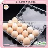 wholesale transparent plastic chicken egg tray, hot sale plastic bulk egg cartons for sale