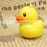yellow little duck custom made keychains, cartoon character rubber keychains, cartoon character rubber yellow little duck custom