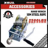 2500LBS/1136KGS Hand Winch Steel Cable/4WD4x4 Boat Trailer Manual Winch/Warranty