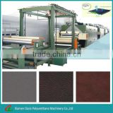 Synthetic leather making machine