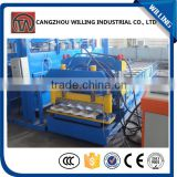 with low price from China top supplier roof/wall panel metal sheet roofing glazed steel tile machine