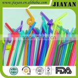 6*260mm Plastic Drinking Straw Flexible Artistic straws Colored Drinking Straw 2016 Hot Sales