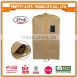 BSCI factory audit 4p Breathable Garment Bags with Shoe Bag for Storage and Travel for wholesale