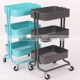 multi-purpose remorable 3-layer kitchen cart
