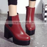 zm50397b autumn and winter europe women shoe chunky heels brushed lady short boots