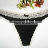 Fashion style sexy women panty with sexy lace trim