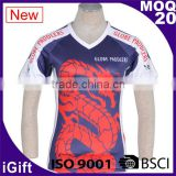 BSCI/ISO9001 Factory Dry fit Breathable fabric Italy sublimation Ink Hotsale cheap sublimated sportswear