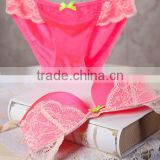 3/4 cup Nylon & Lace Bra and Panties Set,two hook-and-eye,back closure