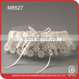 M8527 Chrysanthemum Rhinstone on Lace wedding garter to various occasions garter belt clip
