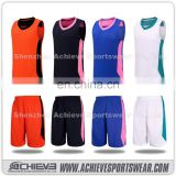 Latest design red color blue color basketball jersey uniform design