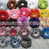 "4"" gerbera fabric daisy flowers with hair clip baby girl hair clip accessories"