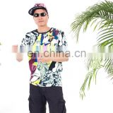 OEM Pattern Full Screen Printed Service men t shirt cheap mans t shirt