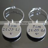 Alibaba Manufacturer wholesale custom any word stamped wine glass charms for Wedding Party