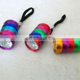 new 6led aluminum flashlight with different color body