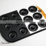 12 Cavities Donut Tray Non Stick Carbon Steel Mini Donut Bake Tray